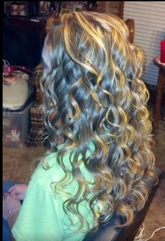 Curled it with wand iron ❤