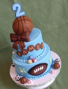 Sports cake - by jan14grands @ CakesDecor.com - cake decorating website