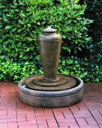 Recirculating fountains on pinterest garden fountains for Recirculating water feature
