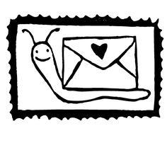 Snailmail Postzegel Slak
