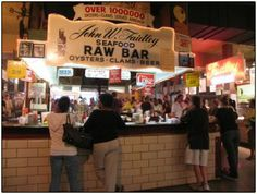 Lexington market - my Dad loved those raw oysters