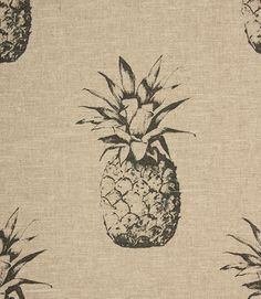 Save 17% on our Noir Ananas Contemporary Fabric. This Regular fabric is perfect for Curtains, Blinds & Upholstery.