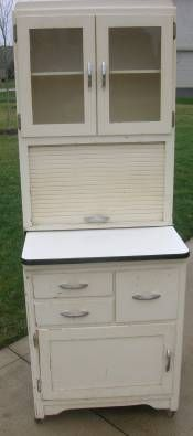Small Hoosier I Have No Place For Such In My Home But These Are Pretty Cool Organize Cabinet Kitchen Cabinets Vintage