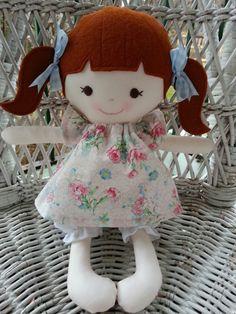 Handmade rag doll--my friend Poppy  www.facebook.com/dandelionwishesbymimi  www.dandelionwishesmimi.etsy.com