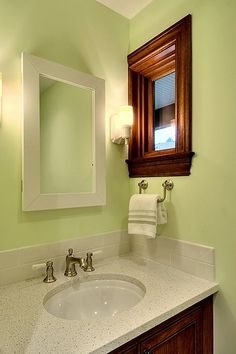 Bathroom Apple Green Design, Pictures, Remodel, Decor and Ideas - page 2
