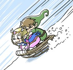 I love how Link is the one freaking out here.