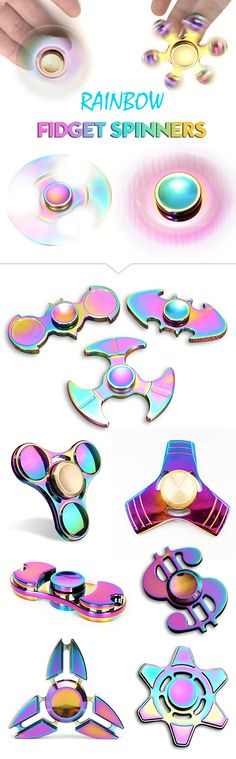 Rainbow fidget spinners round up at Newchic.com!!!