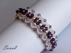 Beaded Bracelet Patterns, Jewelry Patterns, Beaded Jewelry, Handmade Jewelry, Jewellery, Seed Bead Bracelets, Bracelet Tutorial, Bead Weaving, Crystal Beads
