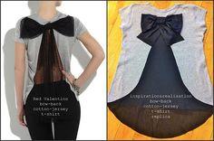 diy take on valentino - bow back shirt cute!