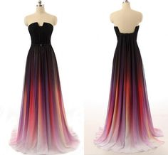 Pretty Chiffon Gradient Prom Dress, Gradient Prom Dresses, Prom Dresses 2016, Prom Gowns, Formal Gow on Luulla