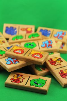 Vintage Wooden Animal Dominoes Game by SmilingMemories on Etsy