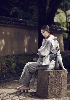 A Kimono in a subdued color
