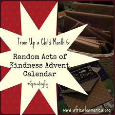 "A Random Acts of Kindness Advent Calendar -- author says, ""it's way better than chocolate!"""