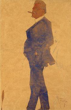 Portrait of Leopold Czihaczek - Egon Schiele — Google Arts & Culture