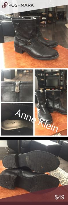 Anne Klein boots size 9M Anne Klein black leather boots size 9M absolutely great boots, comfortable and sturdy!  I had foot surgery so I can't fit into them anymore! 😩 Anne Klein Shoes Ankle Boots & Booties