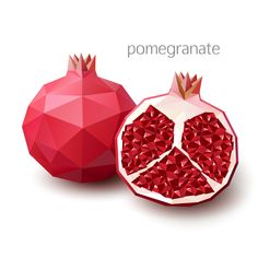 Find Polygonal fruit - pomegranate. Vector illustration Stock Vectors and millions of other royalty-free stock photos, illustrations, and vectors in the Shutterstock collection. Thousands of new, high-quality images added every day.