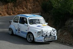 abarth rally car | Ooooohhhhhh Fiat 500 Abarth in full rally trim, with Cibie rally ...