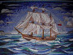 Sidewalk Ship Mosaic | Mosaic Art Source