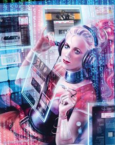 cyberLIL in color by Cudzinec on DeviantART #CYBERPUNK