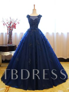 190d5f9149 Bateau Ball Gown Cap Sleeves Appliques Beaded Lace Sequins Quinceanera Dress