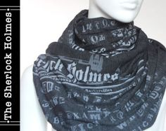 Sherlock Holmes Book Scarf by storiarts on Etsy