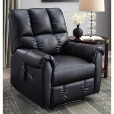 serta massage recliner black walmartcom