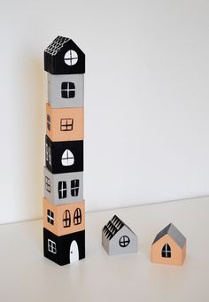 DIY Stacking House Blocks on Bellissima Kids