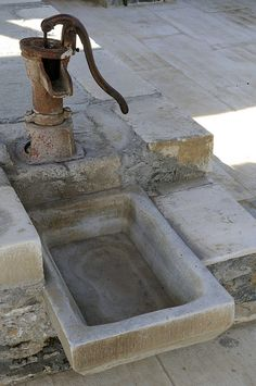 Village waterpipe in Pelion, Greece by ESPEROS Suites & Villas, via Flickr