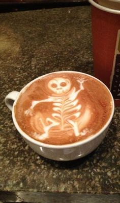 Skeleton Latte Art