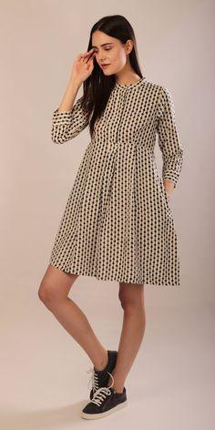 Jessica Dress ahimsa silk shirt dress long sleeves hand