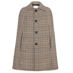 Saint Laurent - Ebony/Beige Houndstooth Wool cape - mytheresa.com GmbH