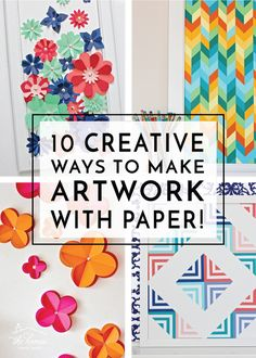 Why Hon File Cabinets Are The Only Option For Your Property Or Office Art For Your Walls Doesn't Have To Be Expensive Check Out These 10 Creative Ways To Make Artwork With Paper Paper Wall Decor, Diy Wall Art, Paper Decorations, Diy Room Decor For Teens, Crafts For Teens, Kids Crafts, Scrapbook Paper Art, Scrapbook Paper Projects, Scrapbooking