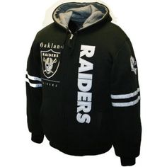 NFL Men's Oakland Raiders Dual Edge Reversible Hoodie Full-Zip Sweatshirt (Black/Charcoal Heather, Medium)