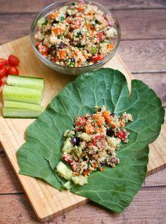 Quinoa Tabbouleh Collard Wraps