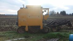 This piece of machinery is a digger and it helps us harvest the bare root fruit trees (when its not raining like crazy!)