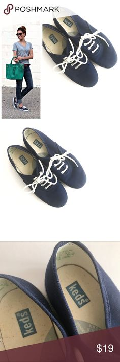 Keds Navy Blue Sneakers Classic Keds sneakers. Navy blue with white trim and laces. Gently used. Size 7. Great summer time shoe! Keds Shoes Sneakers