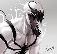 Anti-Venom Art  It's like Venom's twin...and I mean as in tag-team of nightmares and death.