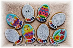 Paint your own Easter cookies
