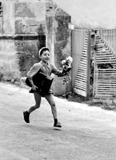 The boy with flowers France 1958 Christian Lemaire