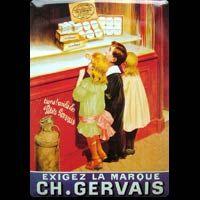 LES PETITS GERVAIS - Plaque métal 15x21 cm - Plaque publicitaire GERVAIS - Plaque déco - idée cadeau déco - idée anniversaire - fête des pères - fête des mères - cadeau noël