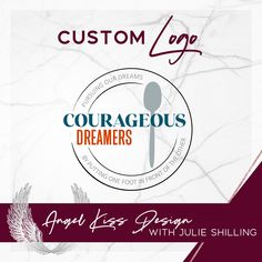 Spoon and Plate Logo design for Courageous Dreamers