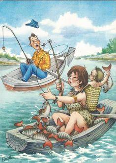 Fishing Cartoon by Fingal