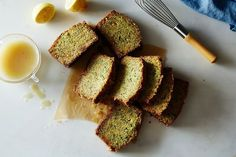Olive Oil Zucchini Cake with Poppy Seeds and Lemon Crunch Glaze