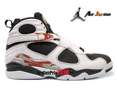 c2c3184c53c74 Chaussure Basket Jordan Prix Pour Homme Air Jordan 8 Retro Ls Blanc/Noir/ Rouge 317258-104-Nike Jordan Basket Prix 2018 France