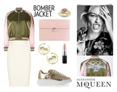 """""""bomber alexander mcqueen"""" by vicster1 ❤ liked on Polyvore featuring Alexander McQueen, Nina Ricci, Juicy Couture, MAC Cosmetics, women's clothing, women, female, woman, misses and juniors"""
