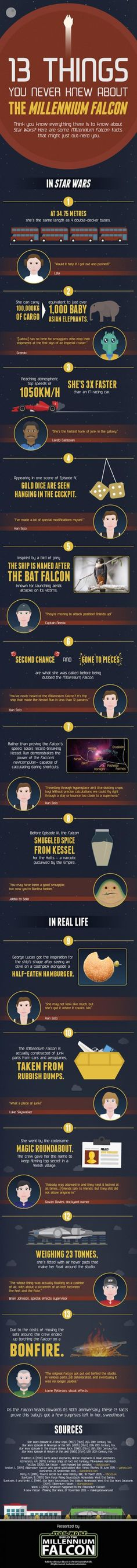 Infographic of the day: 13 things you didn't know about the Millennium Falcon | Blastr