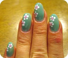 ...Make It With Me: Easy Daisy Nail Art and Some Thrify Finds