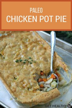 Nothing says comfort food like a hot chicken pot pie! This amazing gluten-free, paleo meal is full of healthy ingredients and home-cooked flavor.