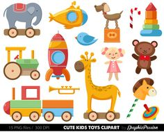 Baby Toys Clipart Clip Art Baby Clip art Toy by GraphicPassion