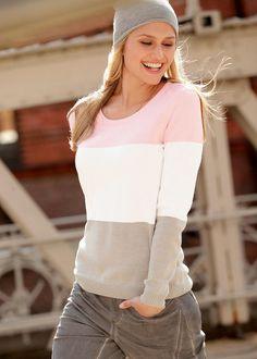 Pulóver • világos rózsaszín/csíkos • bonprix áruház Ruffle Blouse, Tops, Women, Fashion, Moda, Women's, Fashion Styles, Woman, Fasion